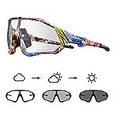 KAPVOE Gafas de Ciclismo Fotocromáticas con TR90 Gafas de Sol Deportivas Mujeres Hombres Running Transparente MTB Accesorios de Bicicleta 01