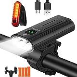 Nestling® Luz Bicicleta LED Recargable USB,3000 Lumen 5200 mAh Potente Luces Bicicleta Delantera y Trasera, 5 Modos, Impermeable Luces Seguridad para Ciclismo de Montaña y Carretera