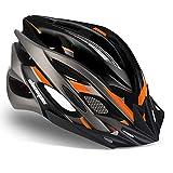 Shinmax Casco Bicicleta Adulto con Visera,Certificado CE Casco de Bicicleta con luz LED Casco Bicicleta Hombre Mujere MTB Casco Bici Casco Ciclismo para Montaña Ajustable Casco para Bicicleta 57-62cm