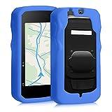kwmobile Carcasa GPS Compatible con Bryton Rider 750 - Funda de Silicona para navegdor de Bici - Azul
