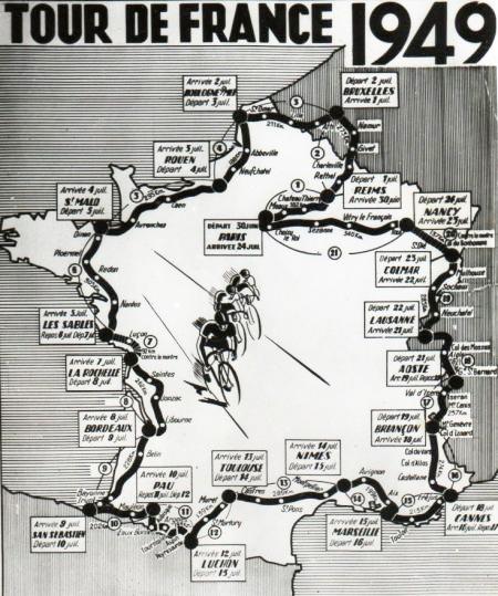 Recorrido Tour de Francia 1949