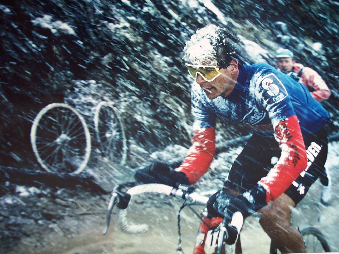 Andrew Hampsten Passo Gavia 1988
