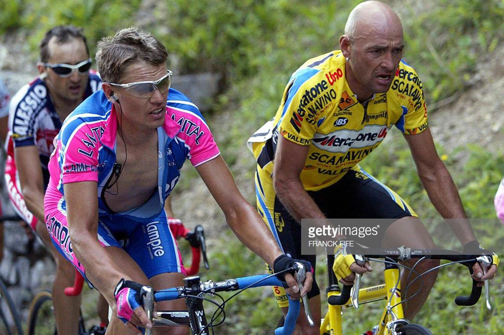 Zoncolan 2003 Marco Pantani y Raymondas Rumsas