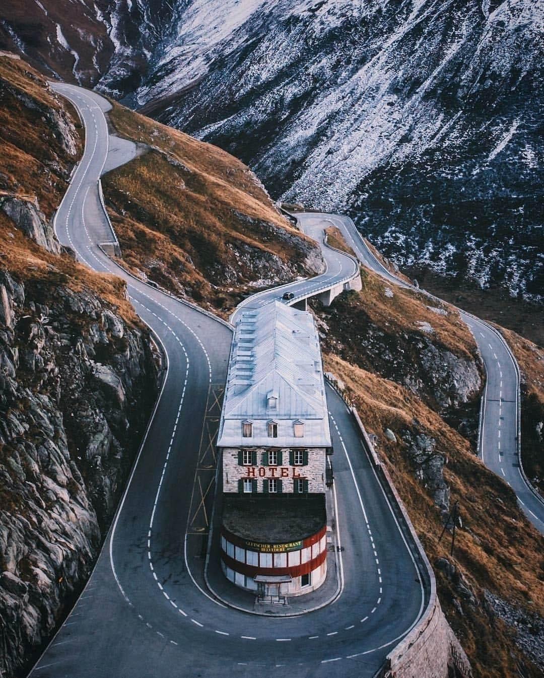 Hotel Belvedere en Paso Furka Suiza Alpes