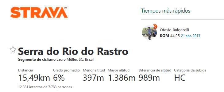 Strava Serra do Rio do Rastro