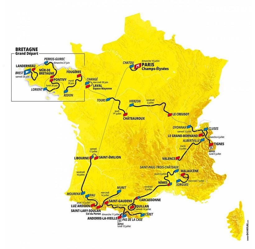 recorrido tour de francia 2021