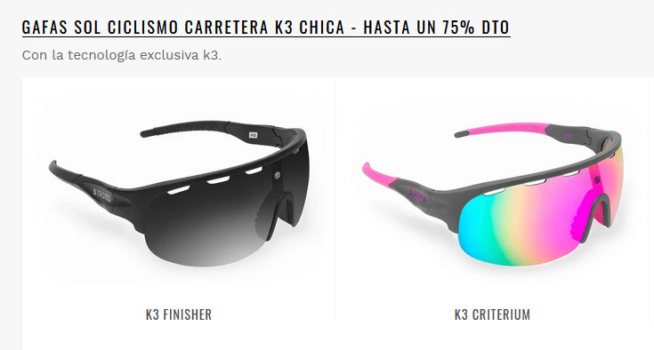 Siroko gafas ciclismo y mtb para chica 1