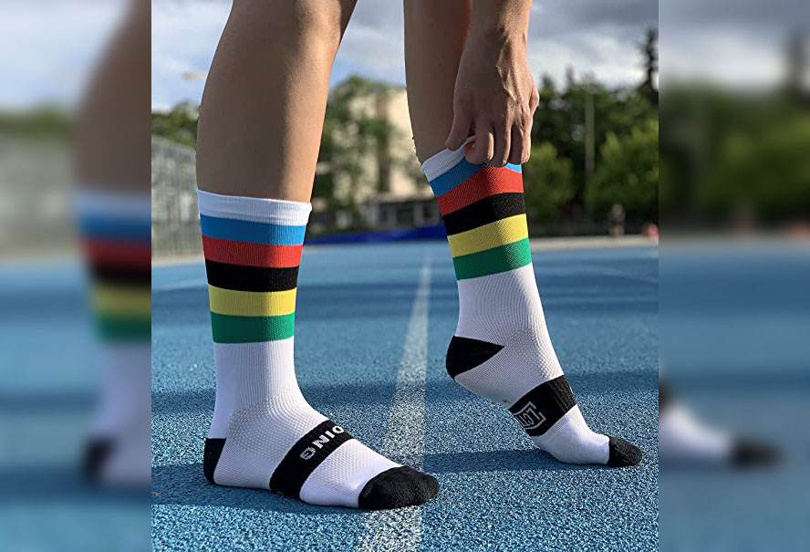 calcetines ciclismo verano transpirables poliester poliamida